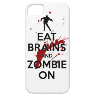 Eat brains and Zombie on keep calm walkers dead un iPhone 5 Covers