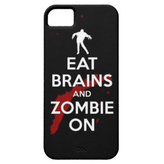 Eat brains and Zombie on keep calm walkers dead un iPhone SE/5/5s Case