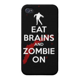 Eat brains and zombie on undead walkers walking co iPhone 4 case