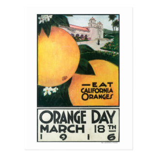 Eat CA Oranges on Orange Day Postcard