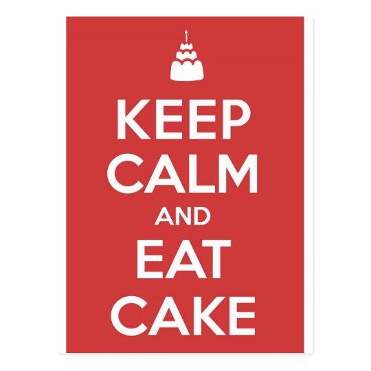 Eat Cake Postcard