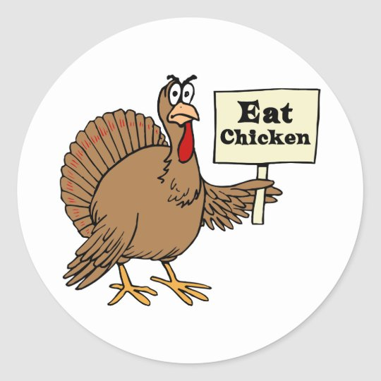 Eat Chicken Classic Round Sticker