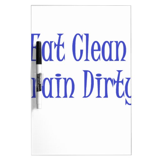 Eat Clean- Blue Dry-Erase Whiteboards