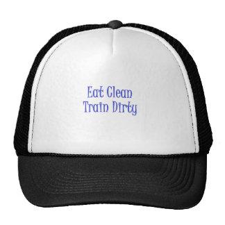 Eat Clean- Blue Trucker Hat