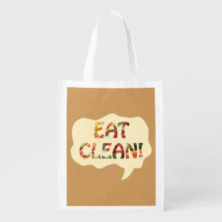Eat Clean Healthy Tote Bag