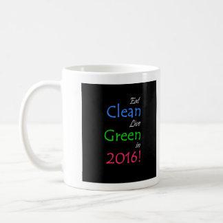 Eat Clean Live Green Mug
