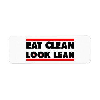 Eat Clean Look Clean Label