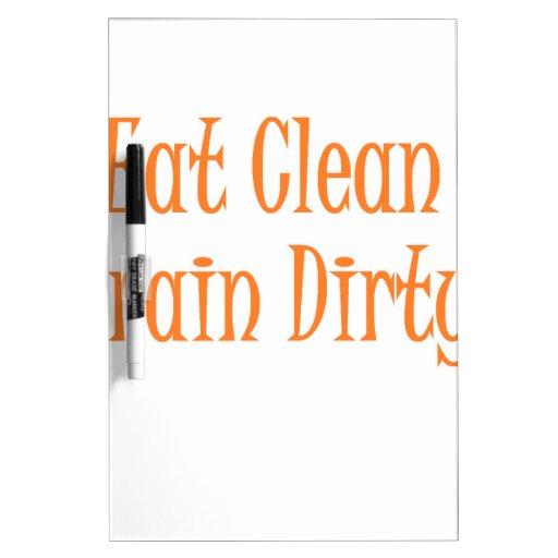 eat clean orange dry erase whiteboard