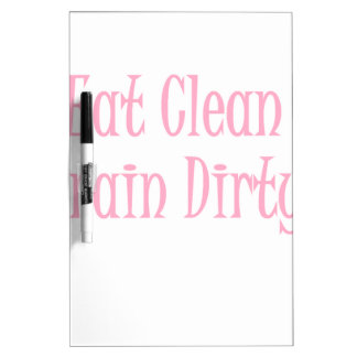 Eat clean pink dry erase board