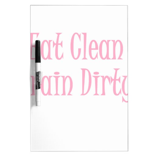 Eat clean pink Dry-Erase boards