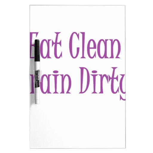 Eat clean purple dry erase whiteboard