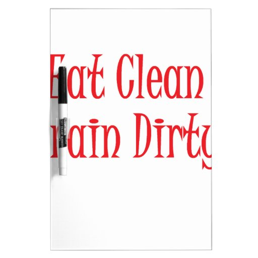 Eat clean red Dry-Erase board