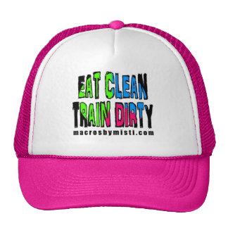 Eat Clean Train Dirty, Macros by Misti Cap Trucker Hat