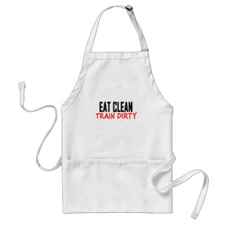 Eat Clean Train Dirty T Shirts KL.png Adult Apron