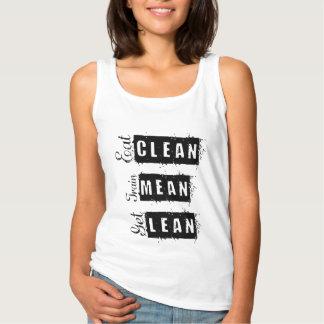 Eat Clean, Train Mean, Get Lean Fitness Tank Top