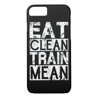 EAT CLEAN, TRAIN MEAN - Workout Motivational iPhone 8/7 Case