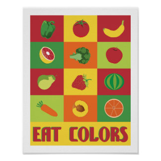 Eat Colors Fruit and Vegetable 11 x 14 print