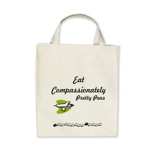 Eat Compassionately Pretty Peas Bag