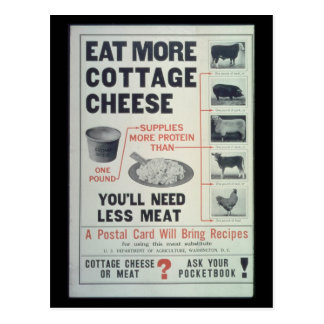 Eat Cottage Cheese - Vintage Postcard