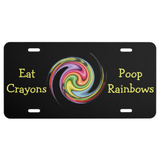Eat Crayons License Plate