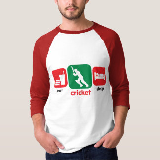 Eat Cricket, Sleep Cricket T-Shirt