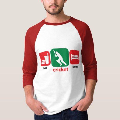 Eat Cricket, Sleep Cricket T-Shirt