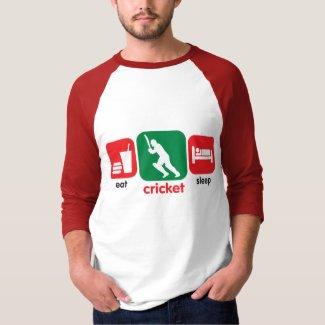 Eat Cricket, Sleep Cricket T Shirt