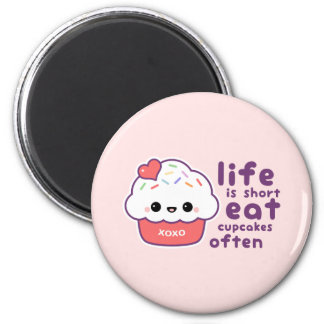 Eat Cupcakes 2 Inch Round Magnet