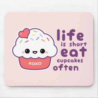 Eat Cupcakes Often Mouse Pad
