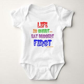 Eat Dessert First Baby Bodysuit