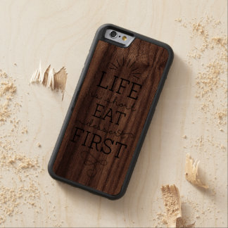 Eat Dessert First Wood iPhone 6 Cases Carved® Walnut iPhone 6 Bumper