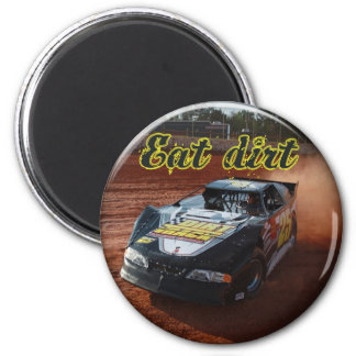 eat dirt racing 2 inch round magnet