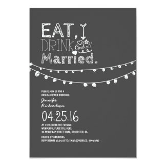 Eat Drink And Be Married Bridal Shower Card