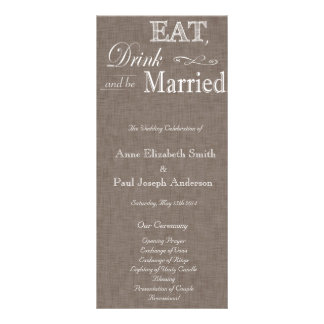 Eat Drink and be married brown fabric program