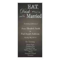 Eat Drink and be married chalkboard program