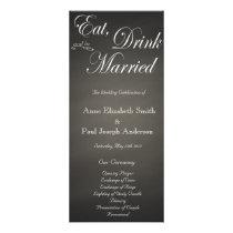 Eat Drink and be married chalkboard program