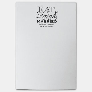 Eat, Drink, and Be Married Custom Wedding Post-it® Notes