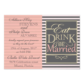 Eat, Drink and be Married design. Card