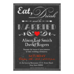 Eat, Drink and be Married Invitacion Personalizada