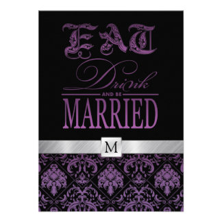 Eat Drink and be Married Personalized Announcement