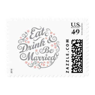 Eat Drink and Be Married Postage Stamp