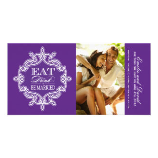 Eat, Drink and Be Married Save the Date Invite Photo Card