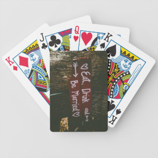 Eat, Drink and Be Married - Save the Date or Weddi Bicycle Playing Cards