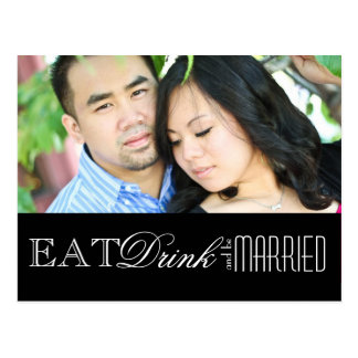 Eat, Drink and be Married | Save the Date Postcard
