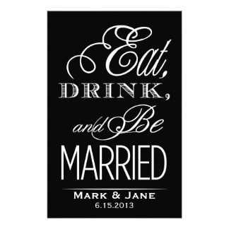 Eat Drink and Be Married Stationery