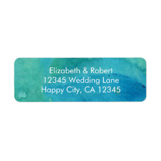 Eat, Drink, and Be Married Turquoise Wedding Label