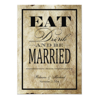 Eat Drink and be Married - Vintage Paper Invites