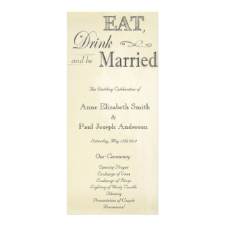 Eat Drink and be married vintage program