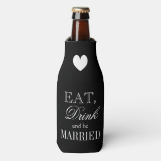 Eat drink and be married wedding bottle coolers bottle cooler