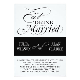 Eat, Drink and Be Married Wedding Invitations